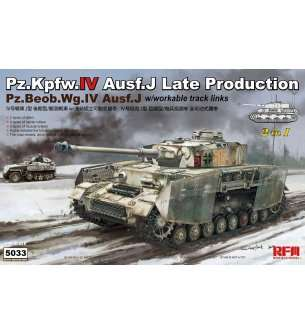 1:35 Rye Field Model 5033 RM-5033 Pz.Kpfw.IV Ausf.J Late Production Pz.Beob.Wg.IV Ausf. J 2 in 1