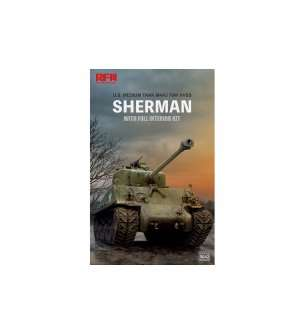 1:35 Rye Field Model 5042 SHERMAN w/Full Interior&Workable Track Links