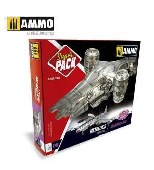 AMMO MIG 7809 Super Pack Metallics - Solution Set