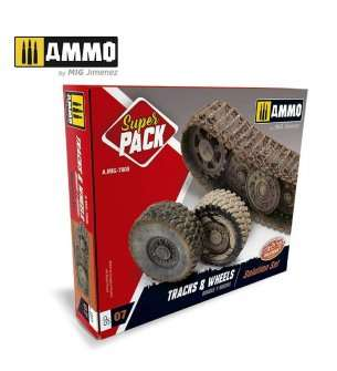 AMMO MIG 7808 Super Pack - Tracks & Wheels - Solution Set