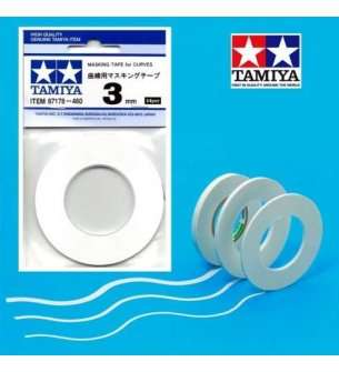 Tamiya 87178 Masking Tape for Curves 3mmX20m