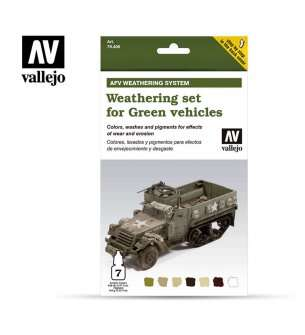Vallejo 78406  Weathering for Green Vehicles - Set