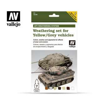Vallejo 78405 Weathering for Yellow/Grey AFV Vehicles - Set