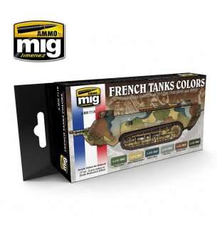 AMMO MIG 7110 WWI & WWII French Camouflage Colors - Acryl Set