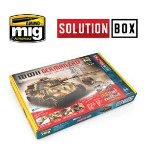 AMMO MIG 7703 WWII German Late - Solution Box