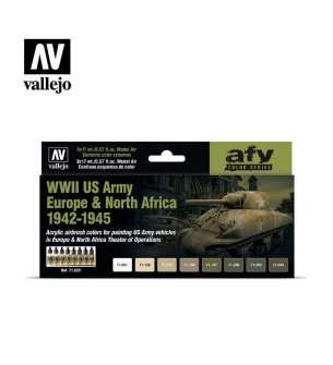 Vallejo 71625 WWII US Army Europe & North Africa 1942-1945 - Acryl Set
