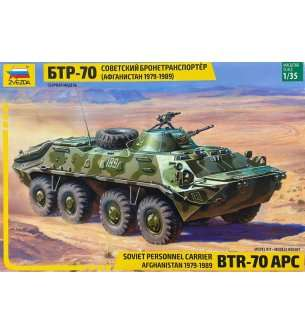 1:35 Zvezda 3557 BTR-70 APC Personnel Carrier (Afghan version)